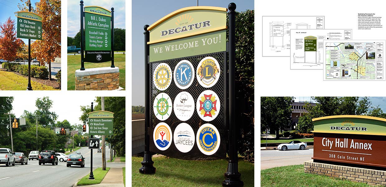 City of Decatur Wayfinding Signage