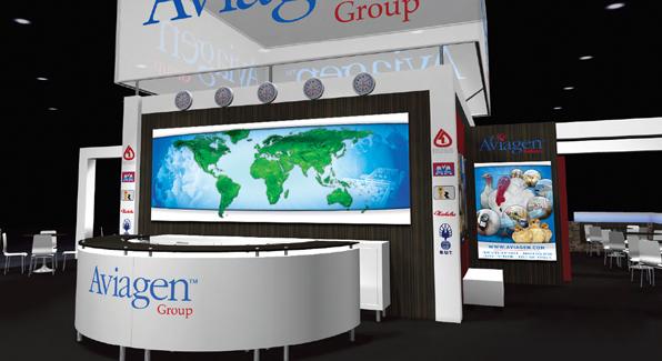 Aviagen Tradeshow Booth