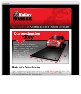 Valley Rubber email newsletter