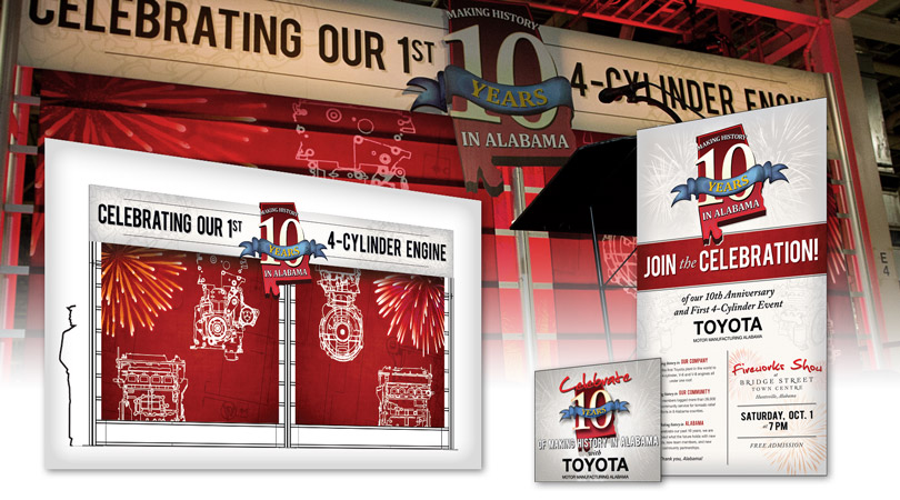 Toyota Motor Manufacturing 4-Cylinder Event Collateral