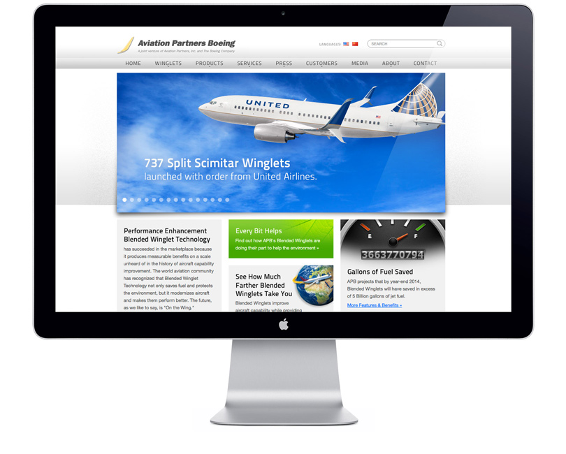 AviationPartnersBoeing.com home page