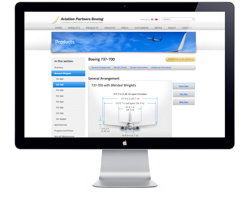 AviationPartnersBoeing.com product page