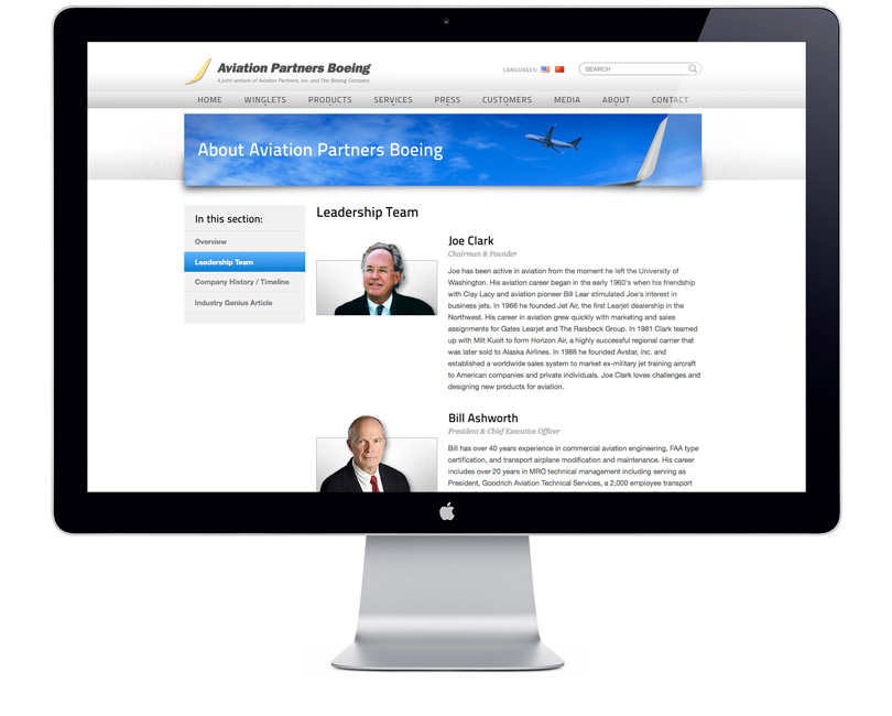 AviationPartnersBoeing.com leadership page