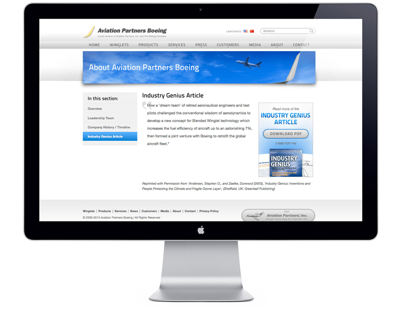 AviationPartnersBoeing.com interview page