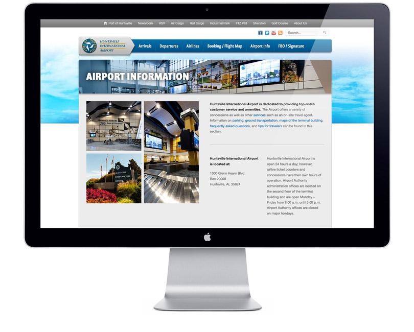 FlyHuntsville.com website info page