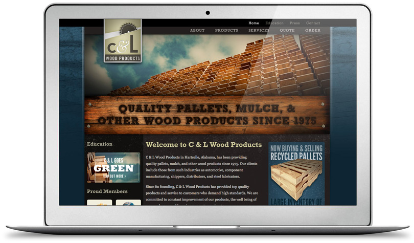 CLWoodProducts.com home page