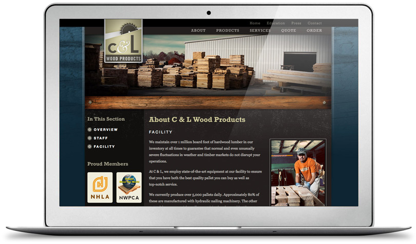 CLWoodProducts.com about page