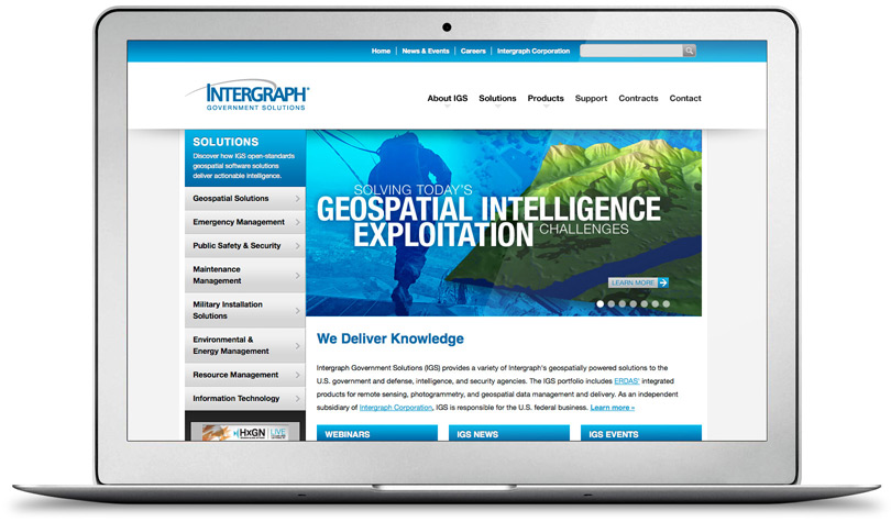 IntergraphGovSolutions.com home page