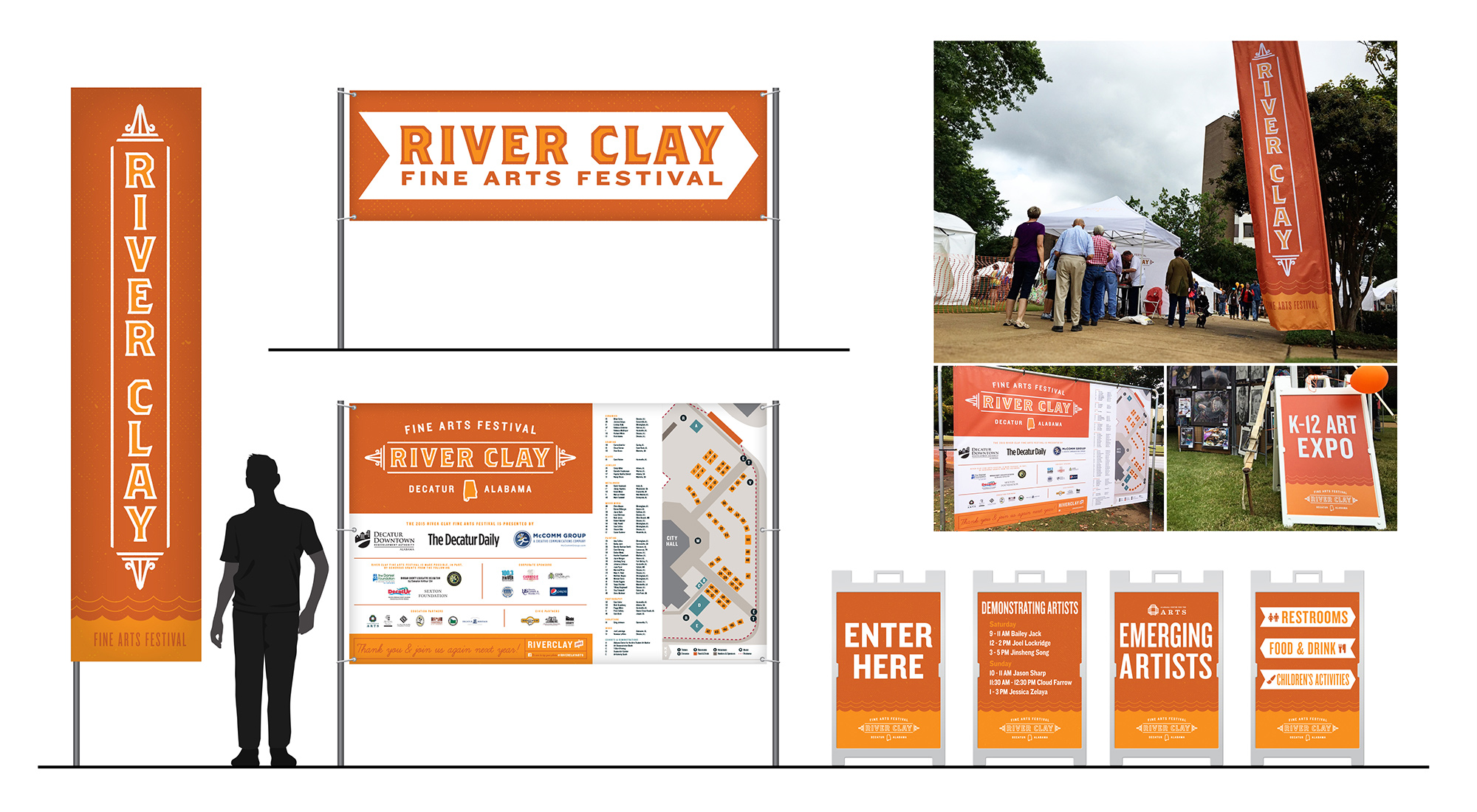 River Clay Sinage