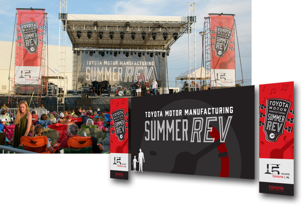 Toyota Summer Rev Stage and Artwork